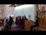 Благотворительный концерт в католическом храме   07.04.2013г Хор